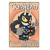 GKUNOI Retro Man Cave Videojuego Regalo para niños Metal Cartel de Chapa Bar Café Club Casa Decoración Placa de Pared 20x30cm YD1016