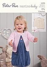 Peter Pan Baby Cardigans & Waistcoats Merino Baby Crochet Pattern 1229 4 Ply