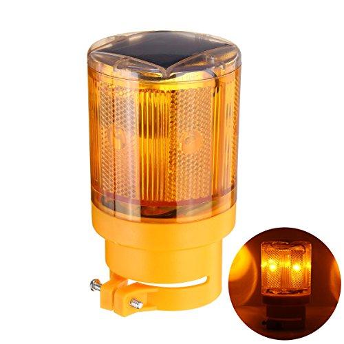LEDMOMO Solar Powered Signs Lumière LED Traffic Strobe Avertissement Lumières Solaires Flicker Beacon Panneau de Signalisation Routière pour la Construction de la Construction
