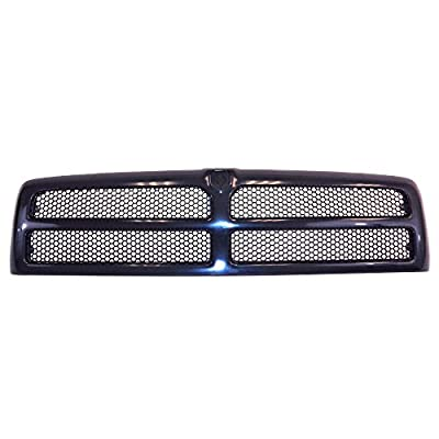 Perfit Liner New Front Black Grille Grill Replacement for DODGE RAM Pickup Truck 1500 2500 3500 94-01 CH1200188 5EZ51RX8