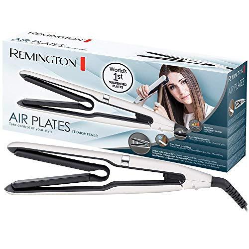 Remington Air Plates S7412 Plancha de Pelo, Cerámica Negra, Titanio, Digital, Suspensión de Placas Exclusiva, Blanco