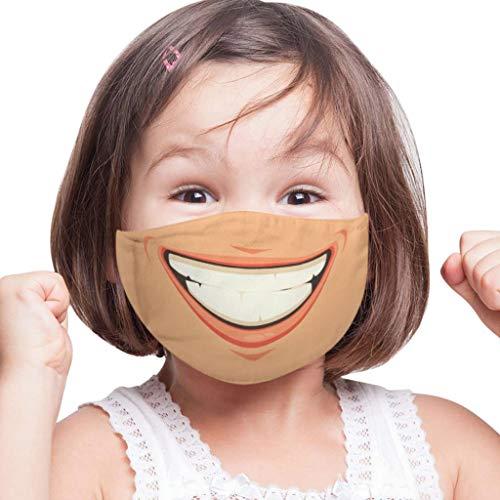 [ Abdeckung ] Gesicht Oder Mund, Adult Kids Funny Angry Smile Ausdruck 3D Digitaldruck Staubdicht Waschbar Wiederverwendbar Outdoor Festival Party