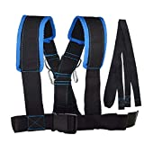 VEIZEDD Sled Shoulder Harness Set for Pulling Strap Speed Exerciser Band Workout Trainer Bodybuilding Outdoor Equipment(Blue/Black)