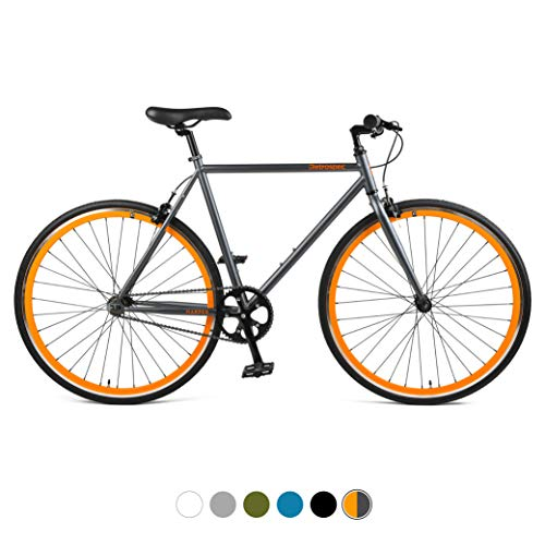 Retrospec Harper Single-Speed Fixed Gear Urban Commuter Bike, 60cm, xl, Matte...