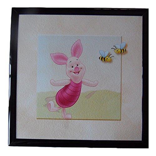 Tableau Porcinet Disney cadre 23 x 23 cm Winnie l'ourson chambre