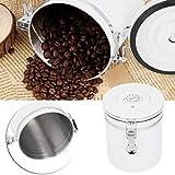 Snufeve6 Botes de harina, Botes herméticos de Doble Capa, refrigerios para té Café en Grano(M)