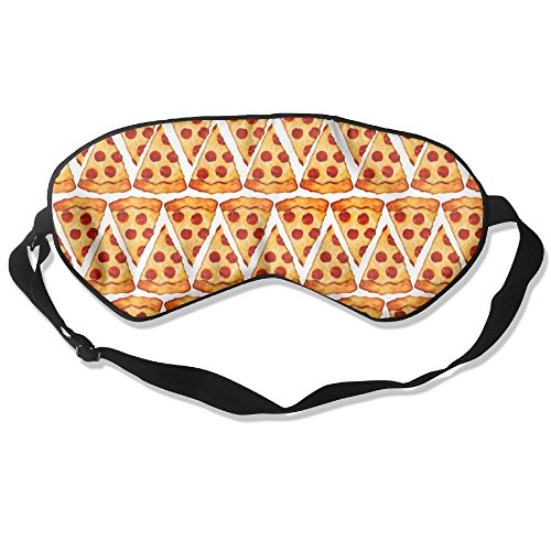 Sleep Mask Pizza Eye Cover Blackout Eye Masks,Soothing Puffy Eyes,Dark Circles,Stress,Breathable Blindfold