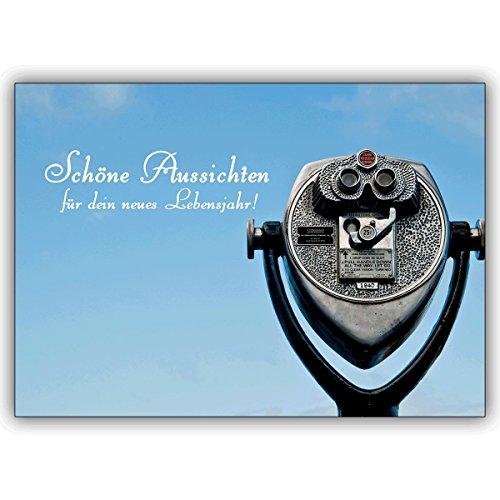 1 verjaardagskaart: designer foto verjaardag wenskaart: mooie uitzichten voor uw nieuwe jaar • nobele felicitatiekaart voor verjaardag met envelop voor vrienden en familie