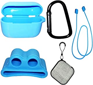 AirPods Pro Case Cover, 5 in 1 Airpods Accessories kit for soft Silicone Protective Cover Set with Ear Hook Grips/Keychain...