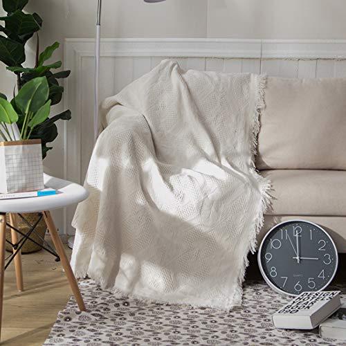 LMDY Home Decor BlanketWhite diamond dark flower sofa blanket sofa towel European non-slip fabric sofa cushion sofa cover all-inclusive blanket90*90CM