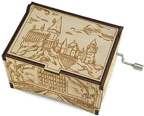 TheLaser'sEdge, Hogwarts Castle with The Music of Hedwig's Theme, Personalizable Laser Engraved Music Box (Standard)