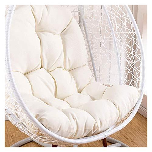 DYYD - Cojín para silla de huevo colgante de ratán, cojines de silla con reposabrazos para exteriores, interiores o exteriores, muebles de patio (color: blanco)