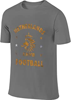 Syins Mens Personalized Classic Tee Shirt Netherlands National Soccer Team Crest Tshirt