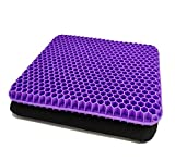 Gel Seat Cushion,Purple seat Cushion,Non-Slip Cover,Help in Relieving Back Pain & Sciatica Pain,Breathable Wheelchair Cushion Chair Pads for Car Seat Office Chair