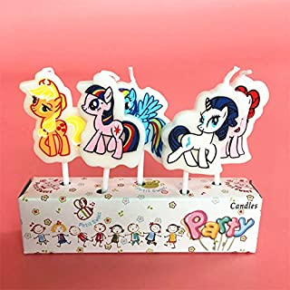 Astra Gourmet 5pcs My Little Pony Shaped Birthday Candles Must Have Accessories for Party Supplies and Birthday