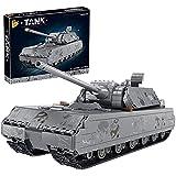 FYHCY Conjunto de construcción tecnología Panzer, 2127 Abrazaderas Militares de la Segunda Guerra Mundial, Kit de Modelo de Panzer VIII Maus alemán, Tanque de tecnología Compatible con Lego Technic
