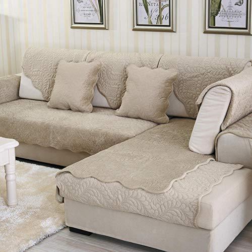 KENEL Antiincrustante Funda de sofá, Terciopelo Fundas para Sofa,Funda Sofa Ajustables Forma L,Cubierta Protectora de Muebles de Peluche de Invierno (Solo 1 Pieza/no Todo Conjunto)-90 * 120 cm_CAM