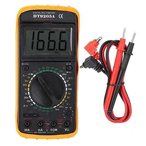 Digitales Multimeter, Walfront DT-9205A Digitales Handmultimeter AC/DC Volt Amp Ohm Kapazität Frequenz Temperatur, Multitester mit hintergrundbeleuchtetem LCD