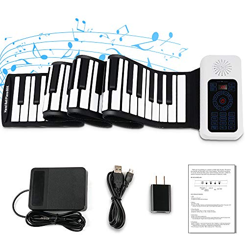 Vangoa Roll Up Piano, 88 Keys Portable Electric Piano Keyboard with MIDI, Built-in Loud Speakers, Rechargeable Battery, for Kids Adults Beginners