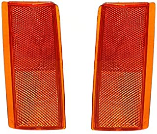 NEW SIDE MARKER CORNER REFLECTOR LEFT & RIGHT PAIR FITS GMC PICKUP TRUCK 5974342 GM2556101