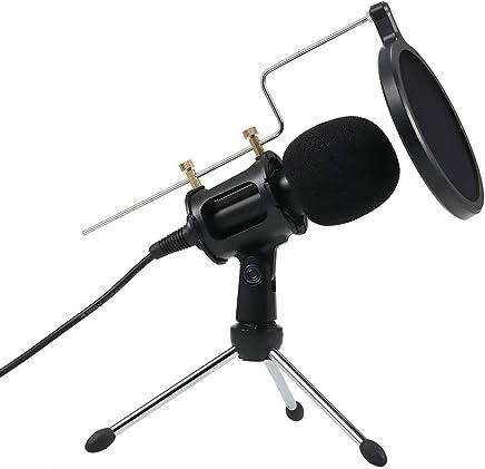 DDSHYNH Microfono Professionale a condensatore con Microfono per Registrazione Microfoni con Mini Supporto Mic per Tablet PC Laptop iPhone,B - Trova i prezzi più bassi