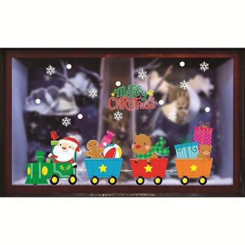Domiluoyoyo Weihnachten Window Clings Decal Wandaufkleber Frohe Weihnachten Fensteraufkleber Pvc Abnehmbare Wandaufkleber Glas Aufkleber Wandbild