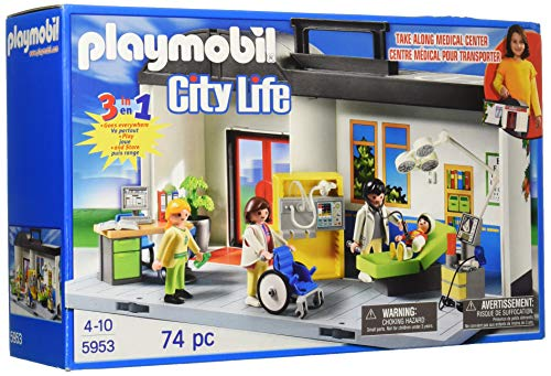 Playmobil - 5953 - Jeu de Construction - Hôpital Transportable