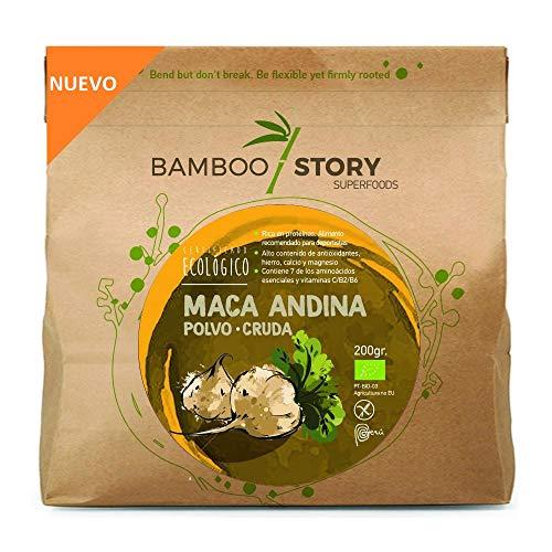 NUEVO - Maca Andina/Peruana/polvo/powder cruda ecológica BAMBOO STORY 200gr.