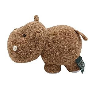 unknow Minshang Proboscis - Muñeca de peluche con elefante y hipopótamo, color marrón oscuro, 20 x 11 x 15 cm