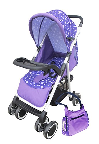 Best Buy! AmorosO Convenient Stroller with Diaper Bag, Purple