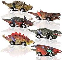 CUTOYOO Dinosauri Macchinine Giocattolo,Regali per Bambini 6 pz