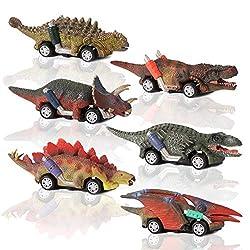 [Nuovo design] Questo prodotto ha 6 diversi design in stile dinosauro, tra cui stegosauro, anchilosauro, pterodattilo, velociraptor, tirannosauro e triceratopo con espressioni vivide e forme realistiche, consentendo ai bambini di imparare e riconosce...