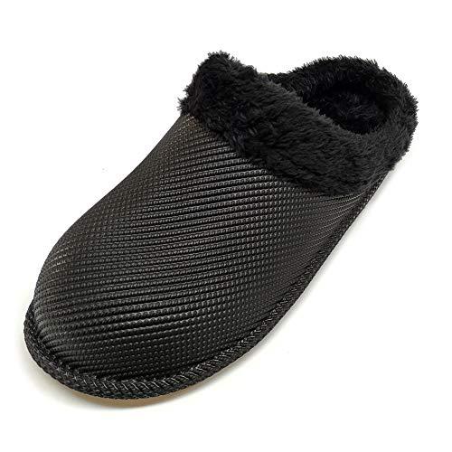 [Sophiscated] メンズ レディース トイレスリッパ室内 暖かい 滑り止め スリッパ冬 防水 履きやすい ルームシューズ カカト 履き外用 スリッパ室内履き 男女兼用 もこもこ 快適 軽量 静音 … (ブラック, measurement_25_p