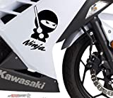 2 x Ninja Schwert Motorrad Aufkleber von myrockshirt®ohne Hintergrund, UV und Waschanlagenfest,...