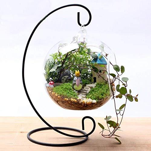 Vase Mode Fee Garten Miniatur Hängehalter Eisen Kunst Home Decoration Vintage Glaskugel Hängegestell Hochzeit Kerzenhalter