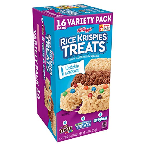 Kellogg's Rice Krispies Treats, Variety Pack, with Writable Wrappers, 12.4oz Box (16 Count)