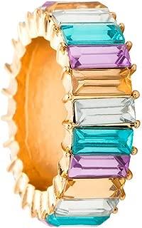 winsopee Women Jewelry Ring, Wedding Exquisite Creative Hand Studded Geometric Rainbow Stone Wedding Jewelry Gift