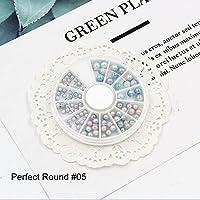 DIY ネイル 1パックミックスサイズネイルパールの装飾マイクロビーズガラスボールチャームパールネイルアート装飾Tiny ABクリスタルラインストーンネイルアート ネイルパーツ (Color : 05)