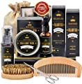 Beard Kit for Men Grooming & Care W/Beard Shampoo Oil Balm Comb Brush Scissor from FULLLIGHT TECH