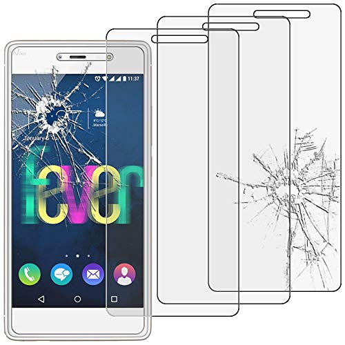ebestStar - kompatibel mit Wiko Fever 4G Panzerglas x3 Schutzfolie Glas, Schutzglas Bildschirmschutz, Bildschirmschutzfolie 9H gehärtes Glas [Phone: 148 x 73.8 x 8.3mm, 5.2'']