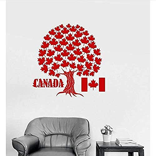 Wandaufkleber Kanada Ahorn Baum Symbol Wandaufkleber Vinyl Wandtattoo Kanadische Flagge Wandaufkleber Wanddekoration Wohnzimmer Schlafzimmer 73X77Cm Größe Kann Angepasst Werden