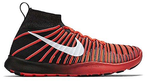 Nike Free Train Force Flyknit, Zapatillas de Gimnasia Hombre, Negro (Black/Drk Grey-Wht-Brght Crmsn), 45 1/2