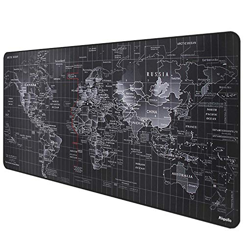 Anpollo Alfombrilla Raton Gaming Grandes World Map Mouse Pad