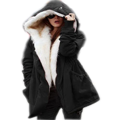 f481e2597b2 Roiii Women Hoodies Parka Jacket Thick Winter Coat Long Cardigan Plus Size  8-14-