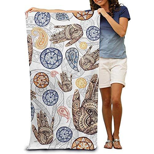 utong 100% Baumwolle Strandtücher 80x130cm Quick Dry Handtuch für Schwimmer Seamless Pattern Beach Blanket