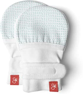 Goumikids Baby Mittens, Organic, Scratch Free & Germ Resistant (Aqua, 3-6 Months (Pack of 1))