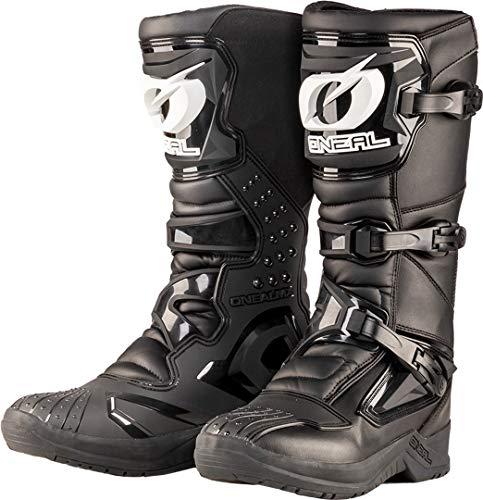 O'NEAL | Botas de Motocross | Enduro de Motocross | Protección interior de tobillos, pies y zona de cambio, forro perforado, microfibra de alta calidad | Botas RSX | Adultos | Negro | Talla 42