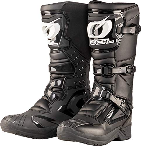 O'NEAL | Botas de Motocross | Enduro de Motocross | Protección Interior de Tobillos, pies y Zona de Cambio, Forro Perforado, Microfibra Botas RSX | Adultos | Negro | Talla 48