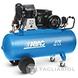Abac Pro B6000270ct5,5Compresor 270L Motor Trifásico 5,5hp con transmisión a correa bistadio