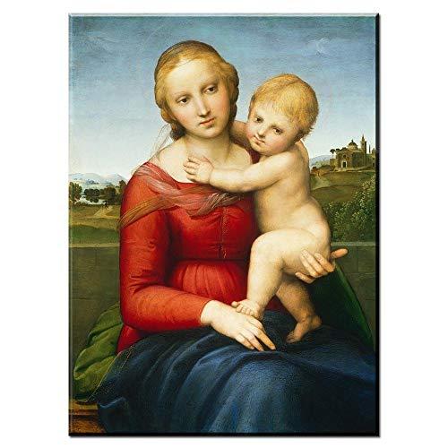 Chihie Madonna mit dem Garnwickler von Leonardo Da Vinci Ölgemälde Kunstdrucke & Gemälde von KUNSTKOPIE.DE